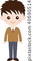 人家庭(男生,中學生和高中生)制服 40690514