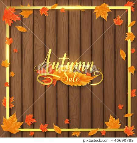 luxury autumn sale background  40690788