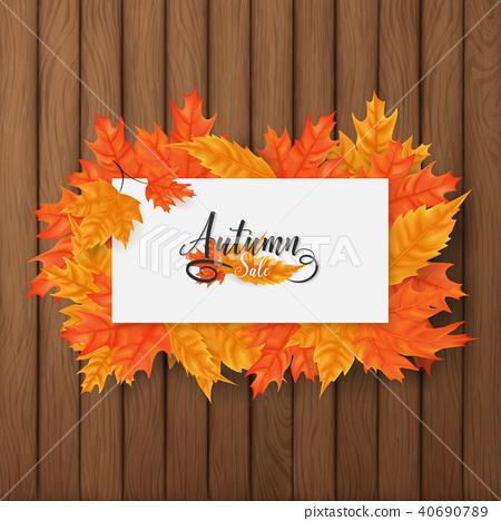 Autumn sale square background 40690789