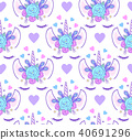 pattern with head of unicorn 40691296