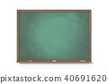 Chalkboard on white background 40691620