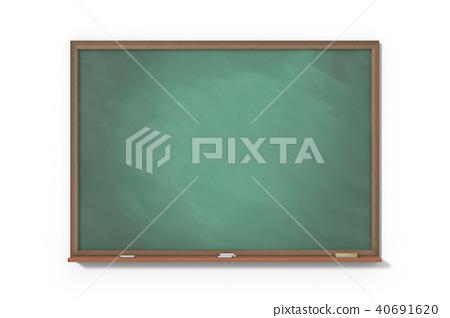 Chalkboard on white background 40691620