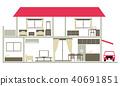 housing residential cross-section 40691851