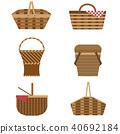 picnic, basket, wicker 40692184