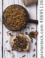 edible fried worms and crickets 40695136