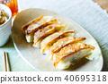 군만두, 구운 만두, 교자 40695318