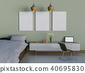Mock up poster of bedroom 40695830