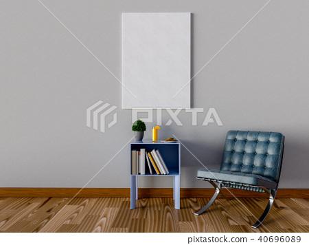 Mock up poster in livingroom. 3D Rendering. 40696089