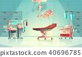 Vector medical surgery concept, cartoon hospital equipment 40696785
