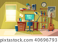 Vector empty home office for freelance job 40696793