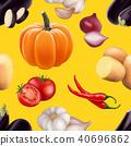vector, pattern, tomato 40696862