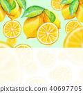 Lemon | Background Material / Watercolor 40697705