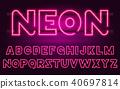 neon, font, letter 40697814