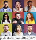 different, expression, multiethnic 40698025