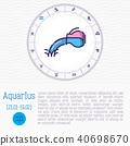 aquarius, zodiac, vector 40698670