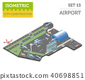 3d isometric airport and city map constructor 40698851