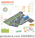 3d isometric airport and city map constructor 40698852