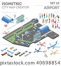 3d isometric airport and city map constructor 40698854