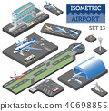 3d isometric airport and city map constructor 40698855