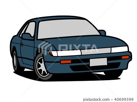 懷鄉國內跑車藍色汽車例證 40699399