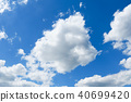 blue sky with cloud closeup 40699420