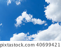 blue sky with cloud closeup 40699421