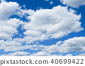 blue sky with cloud closeup 40699422