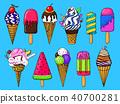 cone, vector, cream 40700281