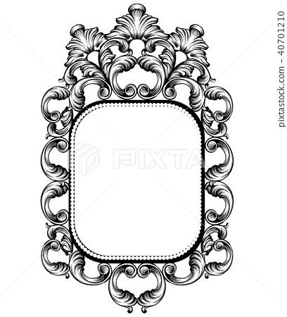 Baroque mirror frame. Vector Imperial decor 40701210