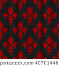 Flower-de-luce on a seamless vector woolen pattern 40701446