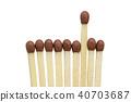 pack of brown matchsticks 40703687