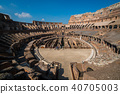 Tourist inside Rome Colosseum Italy 40705003