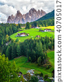 Mountain Village in Villnoss, Dolomites, Italy 40705017