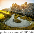 Mountain Road Highway of Dolomite Mountain - Italy 40705044