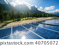 Solar cell panel in country mountain landscape. 40705072