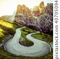 Mountain Road Highway of Dolomite Mountain - Italy 40705094