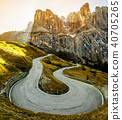 Mountain Road Highway of Dolomite Mountain - Italy 40705265
