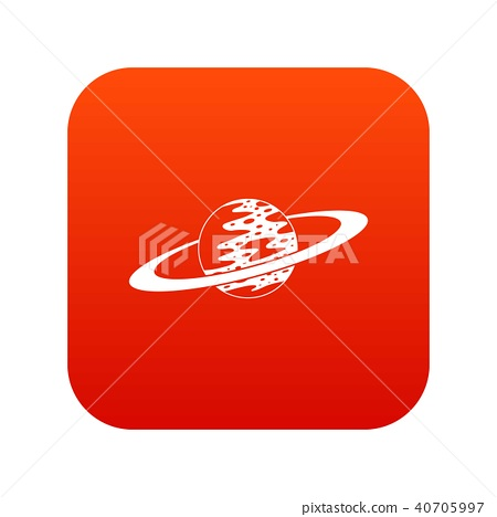 Saturn icon digital red 40705997