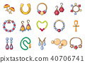 Jewerly icon set, cartoon style 40706741