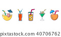 cocktail, icon, vector 40706762