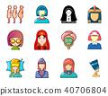 woman, avatar, icon 40706804