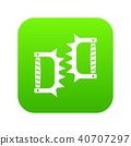 Knuckles with spikes icon digital green 40707297