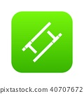 Tonfa icon digital green 40707672