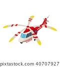 ambulance, helicopter, icon 40707927