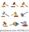 hammer, icon, set 40708113
