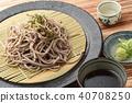 일본 소바 메밀 국수 40708250