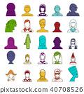 woman, avatar, icon 40708526