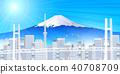 후지산 도쿄 풍경 배경 40708709