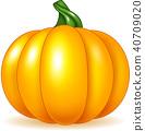 Cartoon pumpkin isolated on white background 40709020
