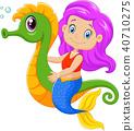卡通 童話 美人魚 40710275